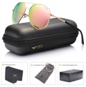 Deals List: LUENX Aviator Sunglasses Womens Polarized Mirror with Case - UV 400 Protection 60MM
