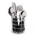 Deals List: Gibson Home Sensations II 16-Piece Flatware Set with Wire Caddy