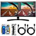 Deals List: LG 34UC88 34-inch QHD Curved Monitor w/ Accessory Hook up Bundle