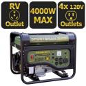 Deals List:  Sportsmans Series 4000-Watt LP Generator GEN4000LP