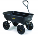 Deals List: Gorilla Carts GOR4PS Poly Garden Dump Cart with Steel Frame and 10-in. Pneumatic Tires, 600-Pound Capacity, Black