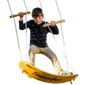 Deals List: Swurfer the Original Stand Up Surfing Swing - Curved Maple Wood Board To Easily Surf The Air