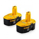 Deals List: 2-Pack DEWALT 18-Volt 2.4-Amp-Hours Nickel Cadmium Power Tool Battery Kit