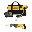 Deals List: DEWALT 20-Volt Max 1/2-in Cordless Drill with Reciprocating Saw