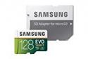 Deals List: Samsung 128GB 100MB/s (U3) MicroSD EVO Select Memory Card with Adapter (MB-ME128GA/AM)