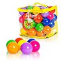 Deals List: 50 Soft Plastic Kids Play Balls ; Crush Proof & No Sharp Edges