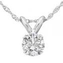 Deals List: 1/3ct Round Solitaire 14k White Gold Diamond Pendant