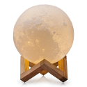 Deals List: CPLA Lighting Night Light LED 3D Printing Moon Lamp, Warm and Cool White Dimmable Touch Control Brightness 3000K/6000K with USB Charging, Rechargeable Home Decorative Light