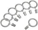 Deals List: AmazonBasics 1 Curtain Clip Ring, Set of 7, Nickel (Silver)