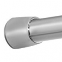 Deals List: InterDesign Forma Constant Tension Bathroom Shower Curtain Rod - 43-75, Medium, Brushed Stainless Steel