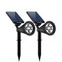 Deals List: URPOWER 4 LED Solar Spotlight?2pack)