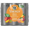 Deals List: V8 +Energy, Juice Drink with Green Tea, Peach Mango, 8 oz. Can (4 Packs of 6, Total of 24)