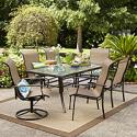Deals List: Garden Oasis Harrison 7 Pc Textured Glass-Top Dining Set
