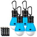 Deals List: MalloMe Camping Tent Lantern Bulb Lights 4 Pack Blue