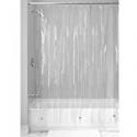 Deals List: InterDesign Vinyl 4.8 Gauge Shower Curtain Liner - Long 72 x 84, Clear