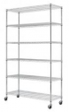 "Deals List: Commercial 48""L x 18""W x 82"" 6 Tier Shelf Adjustable Wire Metal Shelving Rack 76"