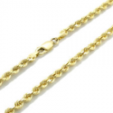 """Deals List: 10k Yellow Gold REAL 2.5mm Diamond Cut Rope Chain Pendant Link Necklace 16""""- 30"""""""