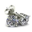 Deals List: 1 1/4 Carat Round Brilliant Cut Natural Diamond Stud Earrings In 14K Gold