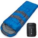 Deals List: MalloMe Single 4 Season Camping Sleeping Bag Blue