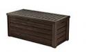 Deals List: Keter Westwood Plastic Deck Storage Container Box Outdoor Patio Garden Furniture 150 Gal, Brown