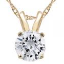 Deals List: 1/2ct Yellow Gold Round Diamond Solitaire Pendant 14K