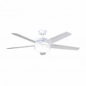 Deals List: Home Decorators Collection Portwood 60 in. Integrated LED Indoor/Outdoor White Ceiling Fan with Light Kit
