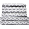 Deals List: Sweet Home Collection Quality Deep Pocket Bed Sheet Set-2 Extra Pillow Cases, Great Value, King, Chevron Gray, 6 Piece
