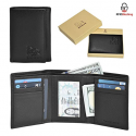Deals List:  Estalon RFID Leather Trifold Wallets for Men - Handmade Slim Mens Wallet 6 Credit Card ID Window and Gift Box Secure by Estalon