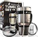 Deals List: MalloMe Stainless Steel Vacuum Insulated 30 oz Water & Coffee Cup Tumbler Travel Mug, 6 Piece Set