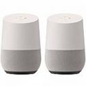 Deals List: Google Smart Speaker with Google Assistant, White/Slate (2 Pack)