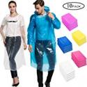 Deals List: 10-Pack Samhe Rain Ponchos Emergency Waterproof Rain Coat
