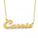 Deals List: Slanted Script Name Necklace in Sterling Silver w/Gold Plate