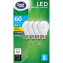 Deals List: Great Value LED Light Bulbs, 8.5W (60W Equivalent), Soft White, 4-count