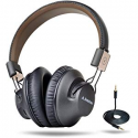 Deals List: Avantree 40 hr Wireless Bluetooth 4.1 Over-the-Ear Foldable Headphones Headset with Mic, APTX LOW LATENCY Fast Audio for TV PC Computer Phone, with NFC, Wired mode - Audition Pro [2-Year Warranty]