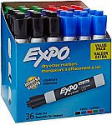 Deals List: EXPO Low Odor Dry Erase Markers Chisel Tip Assorted Colors