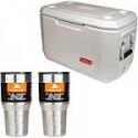 Deals List: Coleman 70 qt Xtreme Marine Cooler with 2 30oz Tumblers Value Bundle