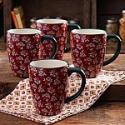 Deals List:  The Pioneer Woman 4-pack Fall Flowers 26oz. Latte Mug Set