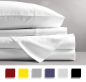 Deals List: Mayfair Linen 100% EGYPTIAN COTTON Sheets, WHITE QUEEN Sheets Set, 800 THREAD COUNT Long Staple Cotton, SATEEN Weave for Soft and Silky Feel, Fits Mattress upto 18'' DEEP Pocket