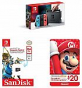Deals List: Nintendo Switch Console w/ Neon Blue & Red Joy-cons + Sandisk 64GB microSDXC UHS-1 Card + $20 Nintendo eShop eGift Card