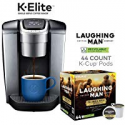 Deals List: Keurig K-Elite, Brushed Silver Single Serve Coffee Maker and Laughing Man Colombia Huila K-Cup Pods, 44 ct