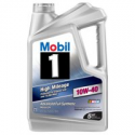 Deals List: Mobil 1 10W-40 High Mileage Full Synthetic Motor Oil, 5 qt.