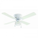 """Deals List: 42"""" Mainstays Hugger Indoor Ceiling Fan with Light, White"""