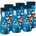 Deals List: Gerber Graduates Puffs Cereal Snack, Apple Cinnamon, Naturally Flavored with Other Natural Flavors, 1.48 Ounce, 6 Count