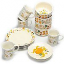 Deals List: Mainstays 16-Piece Happy Harvest Fall Floral Dinnerware Set