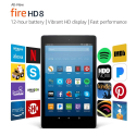 """Deals List: Certified Refurbished Fire HD 8 Tablet with Alexa, 8"""" HD Display, 32 GB, Black - with Special Offers"""