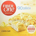 Deals List: Fiber One 90 Calorie, Lemon Bar, 0.89 Ounce, 6 Count (Pack of 8)
