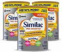 Deals List: Similac Pro-Sensitive Non-GMO Infant Formula with Iron, with 2'-FL Hmo, for Immune Support, Baby Formula, Powder, 34.9 oz, 3 Count (One-Month Supply)