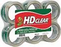 Deals List: Duck HD Clear Heavy Duty Packaging Tape Refill, 6 Rolls, 1.88 Inch x 54.6 Yard, (441962)
