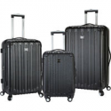 Deals List: Travelers Club Luggage Madison 3 Piece 2-in-1 Hardside Luggage Set