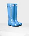 Deals List: Women's Original Tall Gloss Rain Boots: Forget Me Not